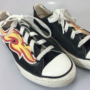 Converse Juniors 3 US 2.5UK 35EU Black & Flame Can